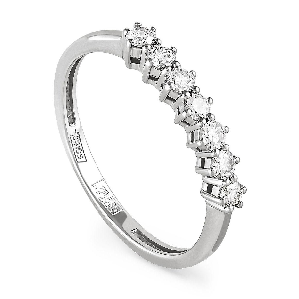 Кольцо из белого золота Бриллиант арт. 11-11128-1000 11-11128-1000