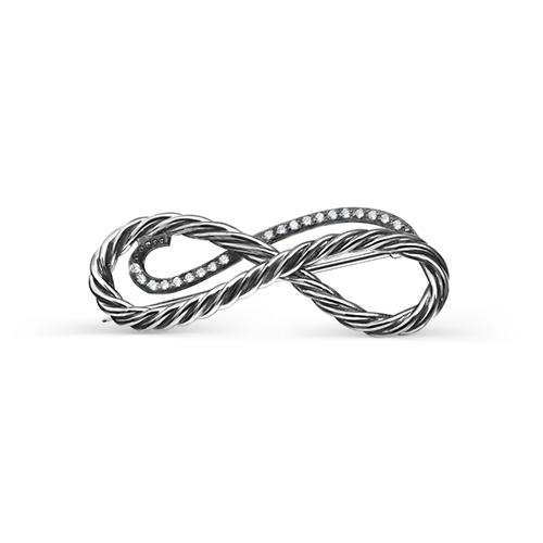 Серебряная брошь с фианитом арт. 5-027-7983 5-027-7983