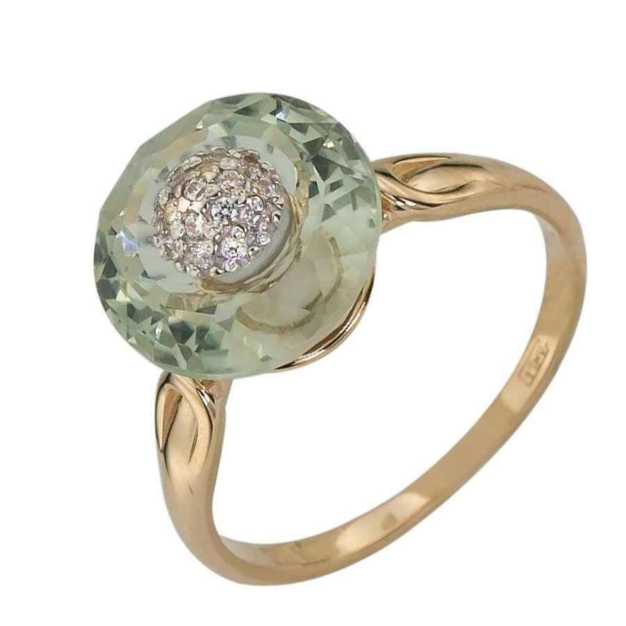 Золотое кольцо Аметист и Фианит арт. 010523 010523