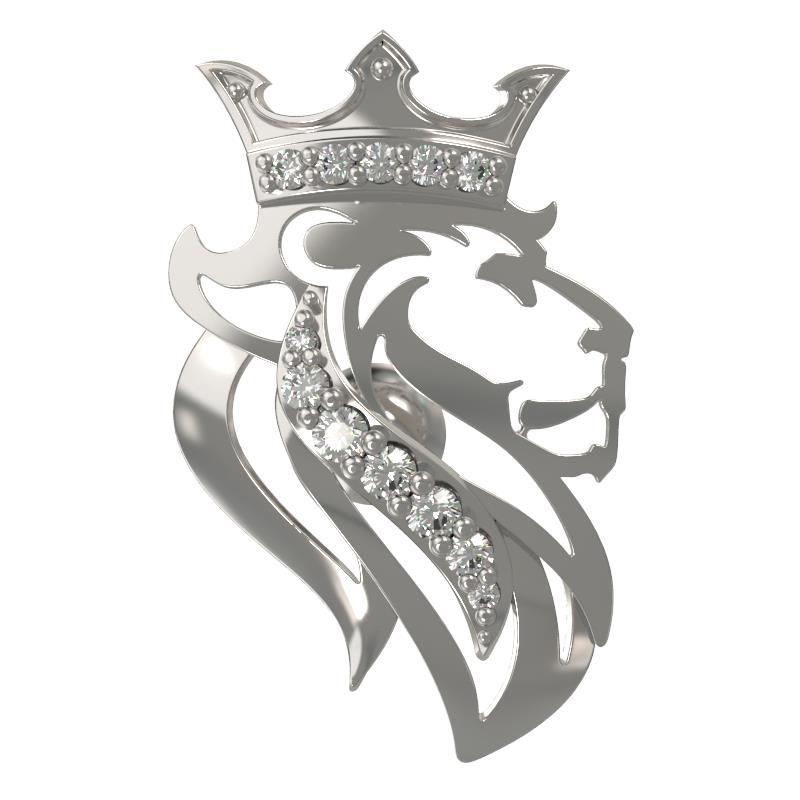 Серебряный значок с фианитом арт. 1034380-01110 1034380-01110
