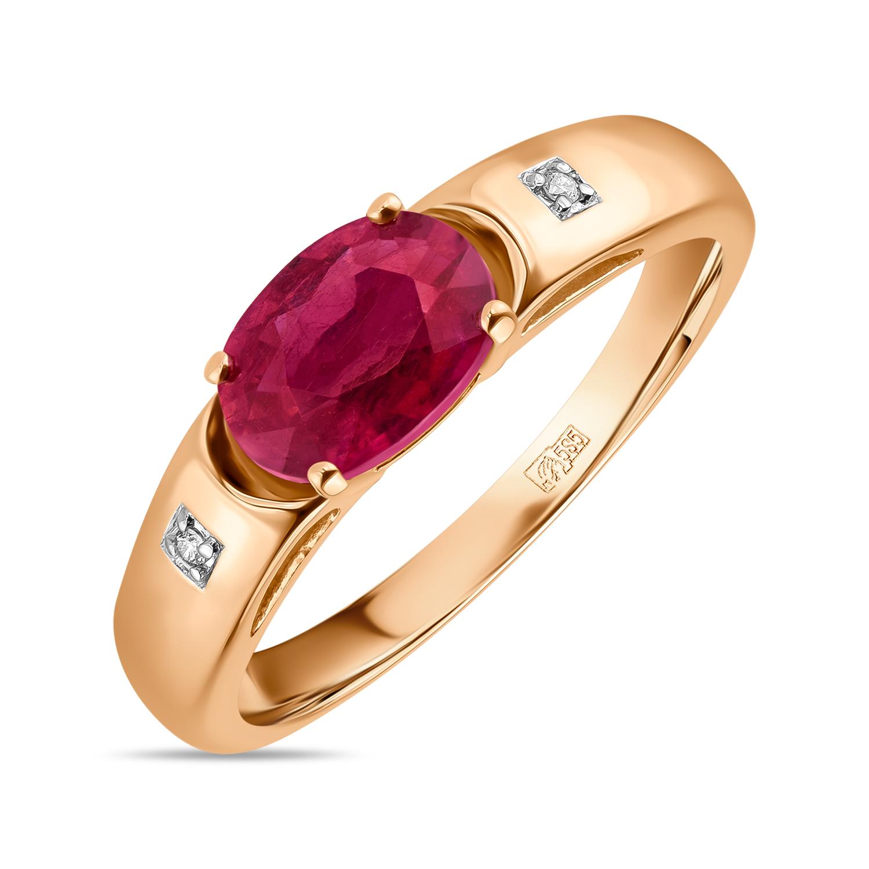 Золотое кольцо Бриллиант и Рубин арт. r01-d-l-35098-ro r01-d-l-35098-ro