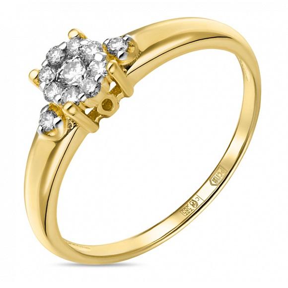 Золотое кольцо Бриллиант арт. r01-d-33758 r01-d-33758