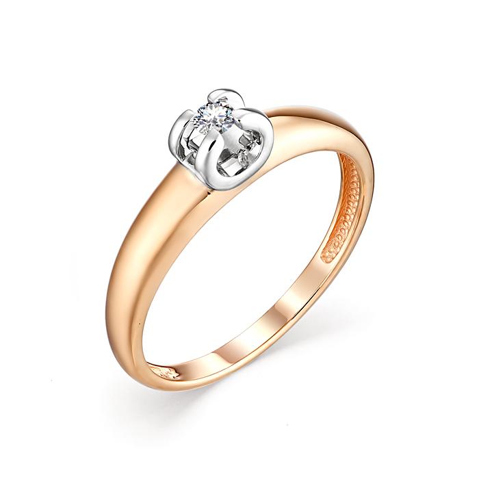 Помолвочное кольцо из золота с бриллиантом К0239-120