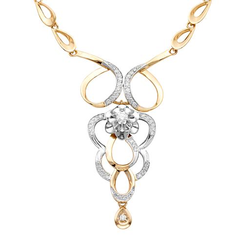 Золотое колье с бриллиантом арт. 6-228/1 6-228/1