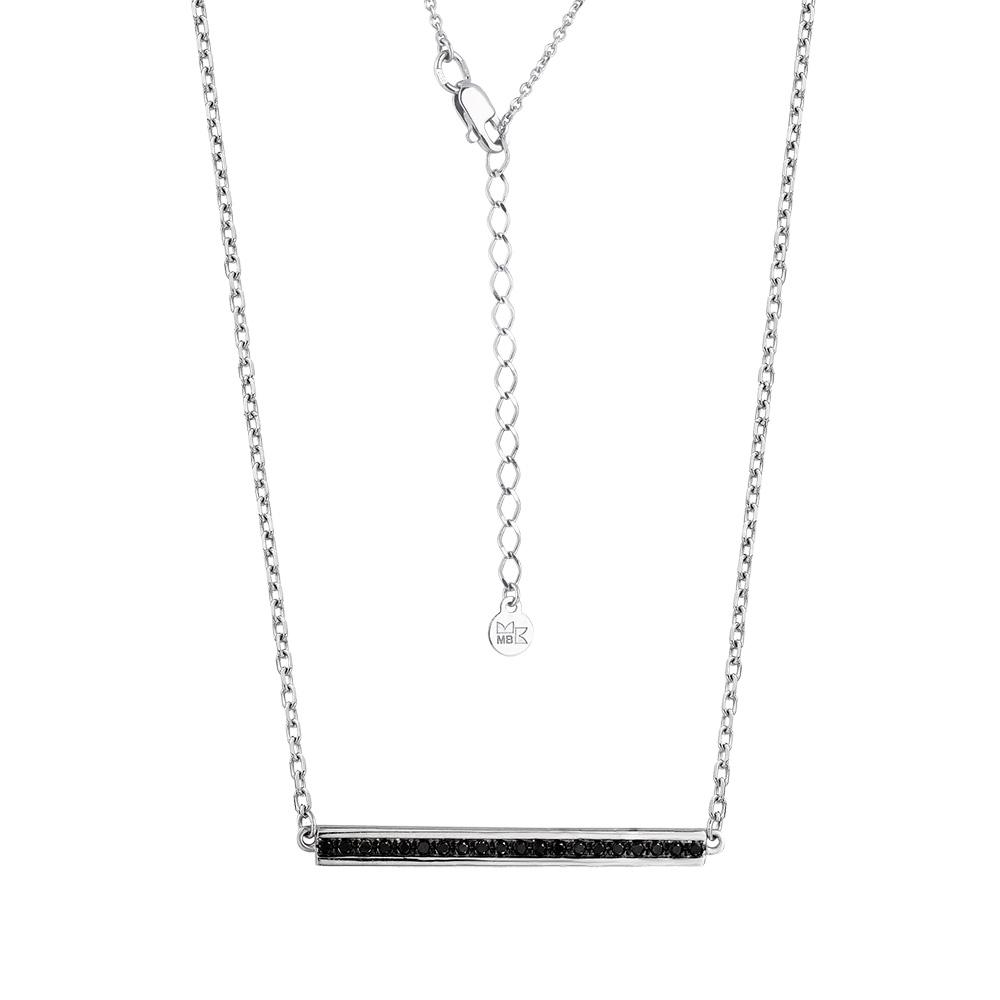 Колье из белого золота с чёрным бриллиантом арт. 6-260413-00-48 6-260413-00-48