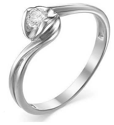 Кольцо из белого золота 1-106-693