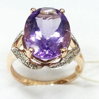 Золотое кольцо Бриллиант и Кварц арт. 501110ккд 501110ккд