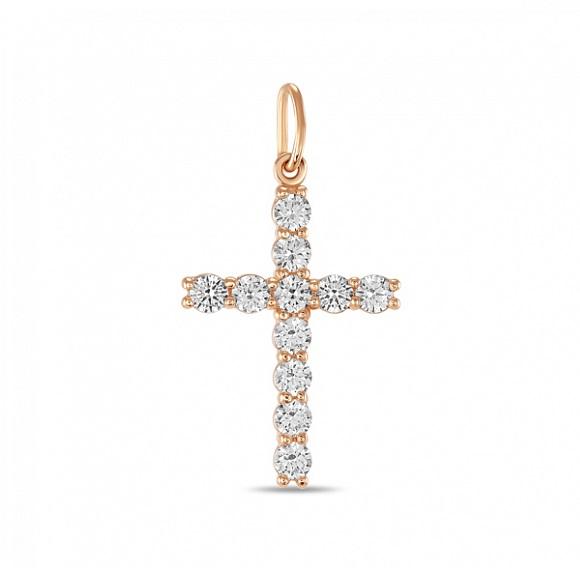 Крест из белого золота с фианитом арт. j01-z-59033-z j01-z-59033-z