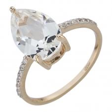 Золотое кольцо Прочие и Фианит арт. 011621гхкц 011621гхкц