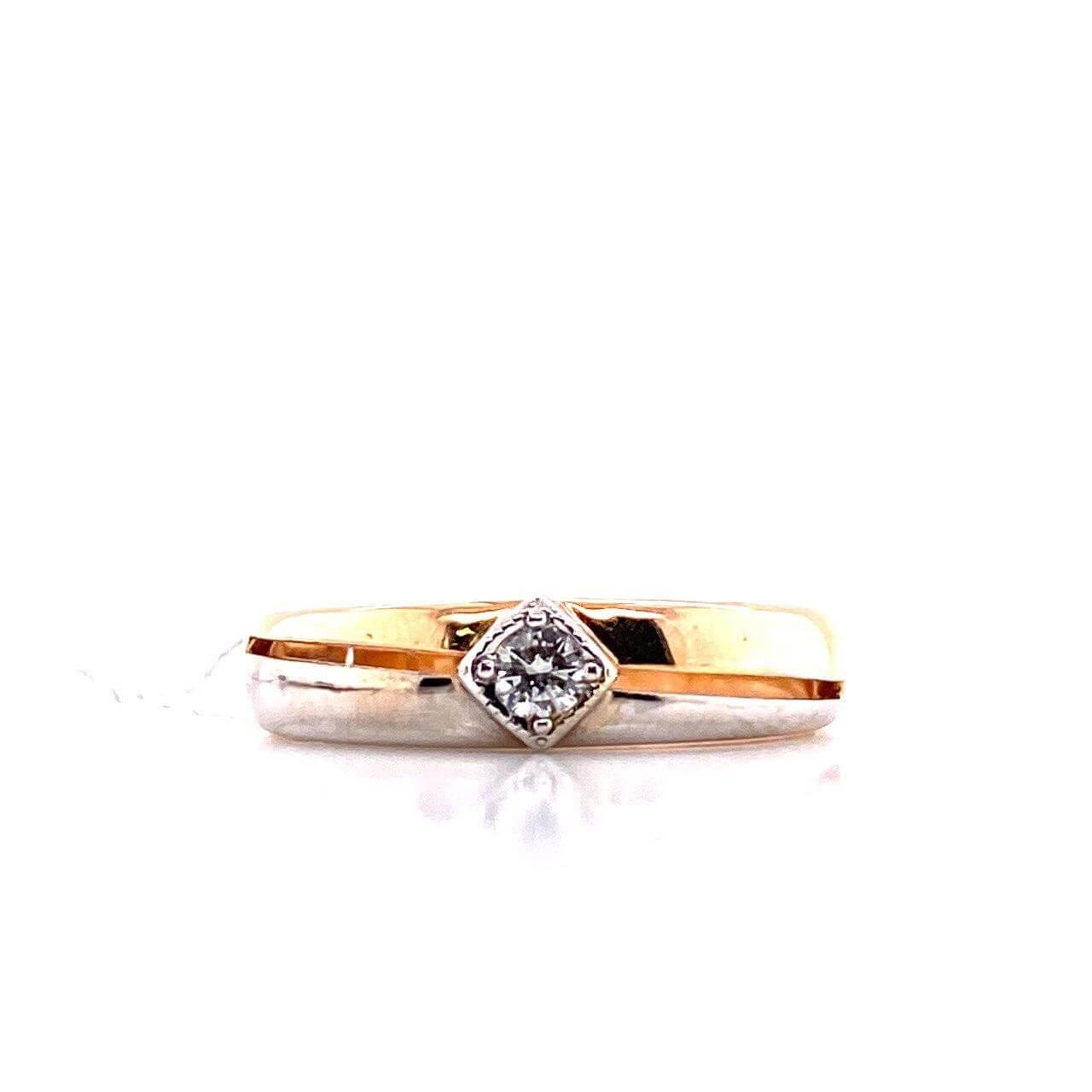 Золотое кольцо Бриллиант арт. БПК-11078-1-0.08 БПК-11078-1-0.08