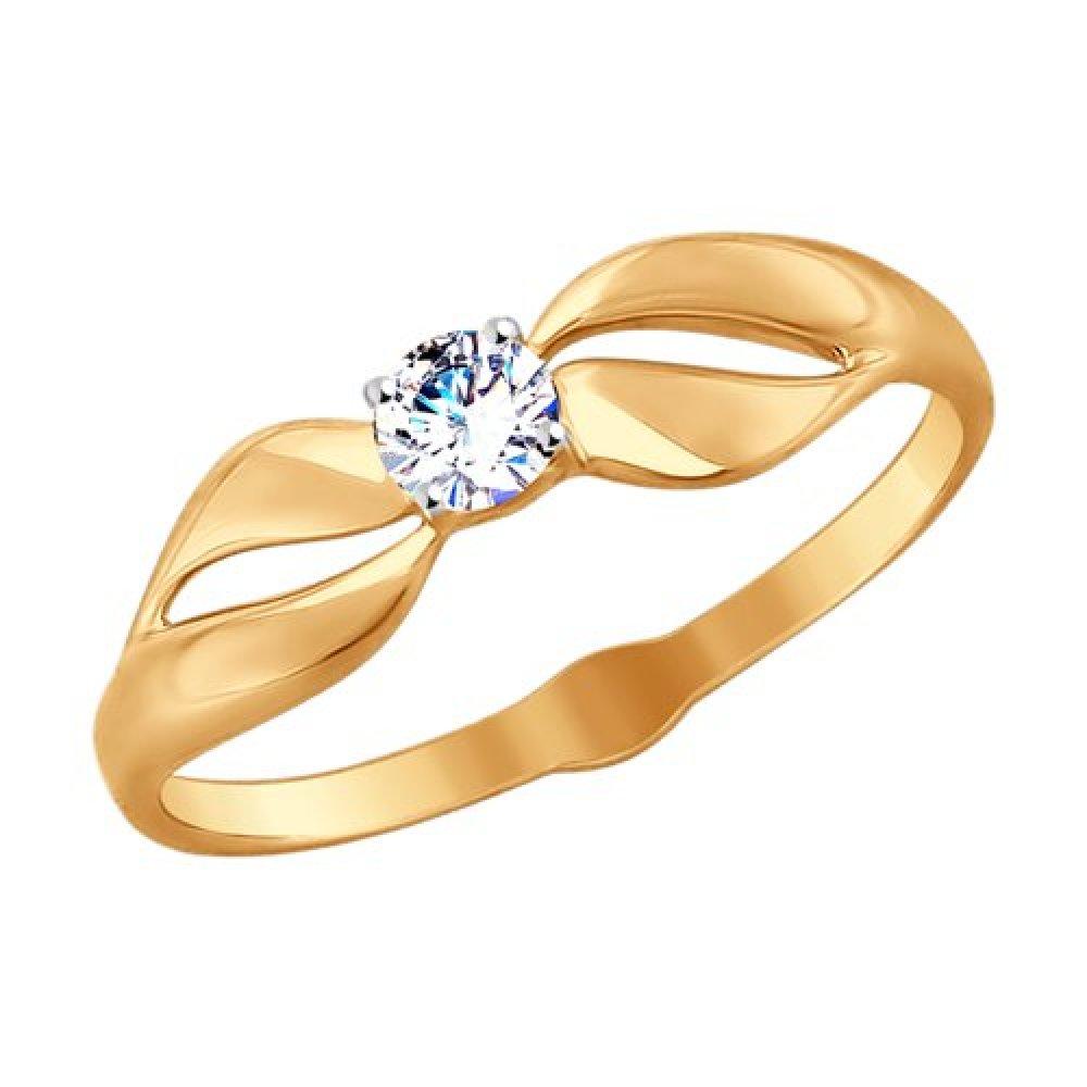 Золотое кольцо Фианит арт. 51-110-00106-1 51-110-00106-1
