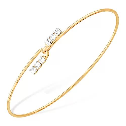 Жесткий браслет из золота с фианитом арт. б13213253 б13213253