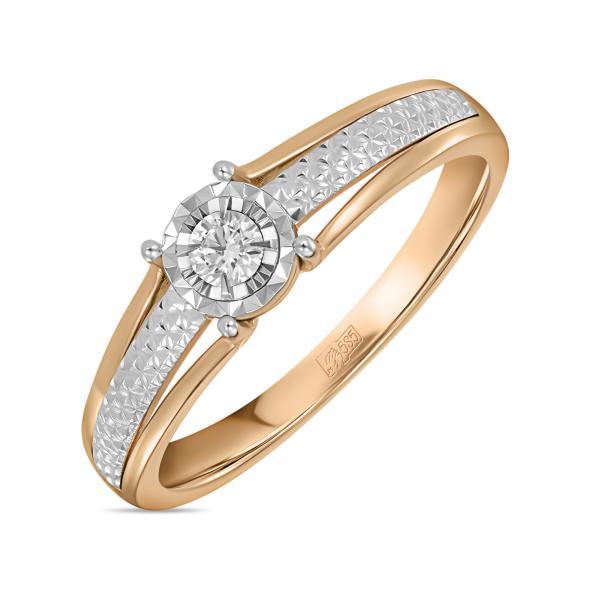 Золотое кольцо Бриллиант арт. r01-d-rr010207adi r01-d-rr010207adi