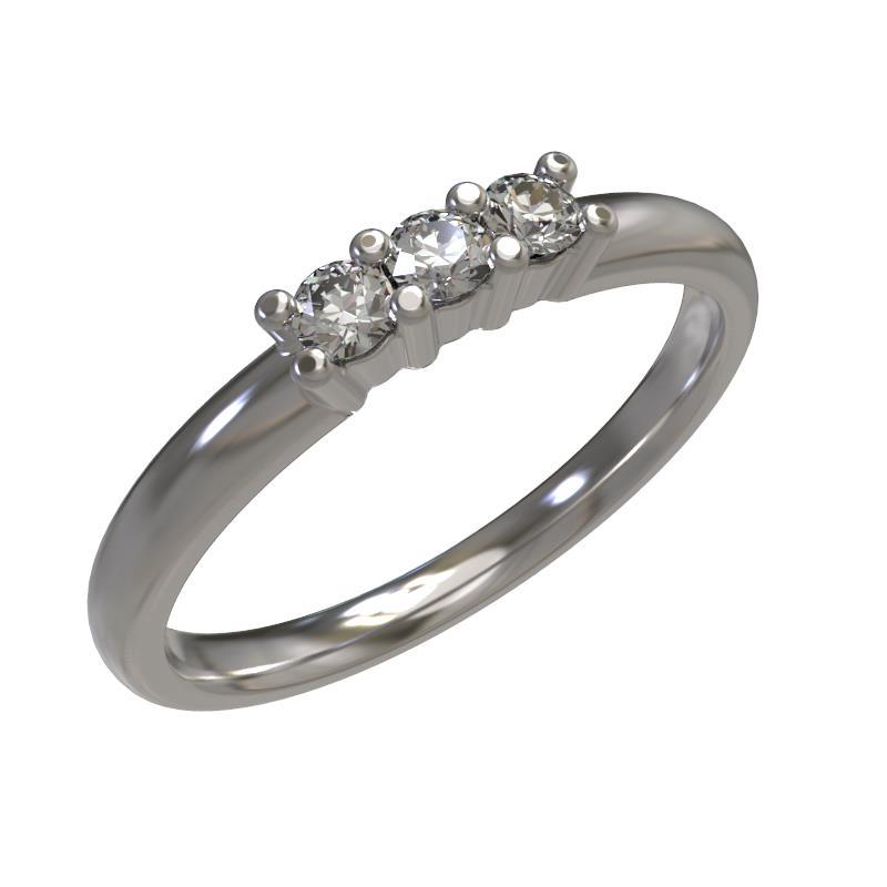Кольцо из белого золота Бриллиант арт. 1030701-21240 1030701-21240