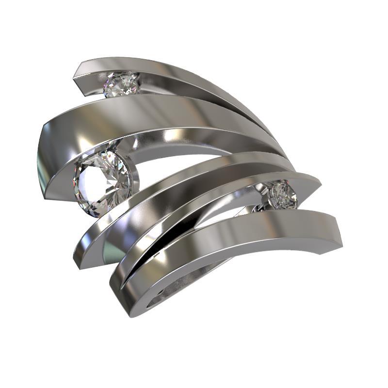 Серебряное кольцо Фианит арт. 1031001-01210 1031001-01210