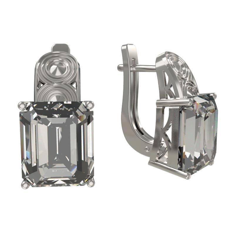 Серебряные серьги с фианитом арт. 1032532-01210 1032532-01210
