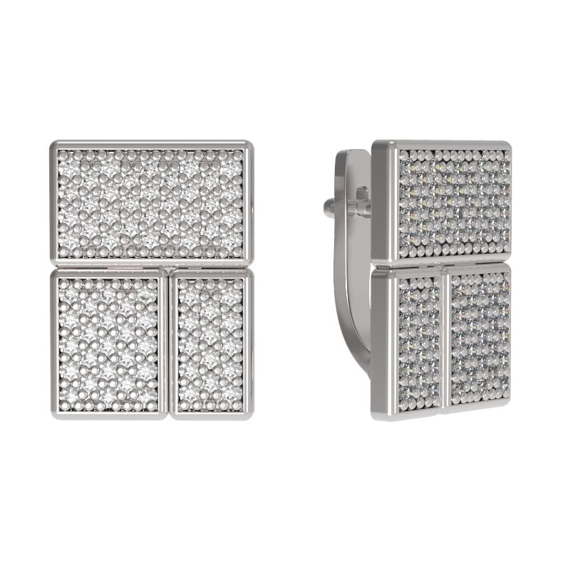 Серебряные серьги с фианитом арт. 1033412-01110 1033412-01110