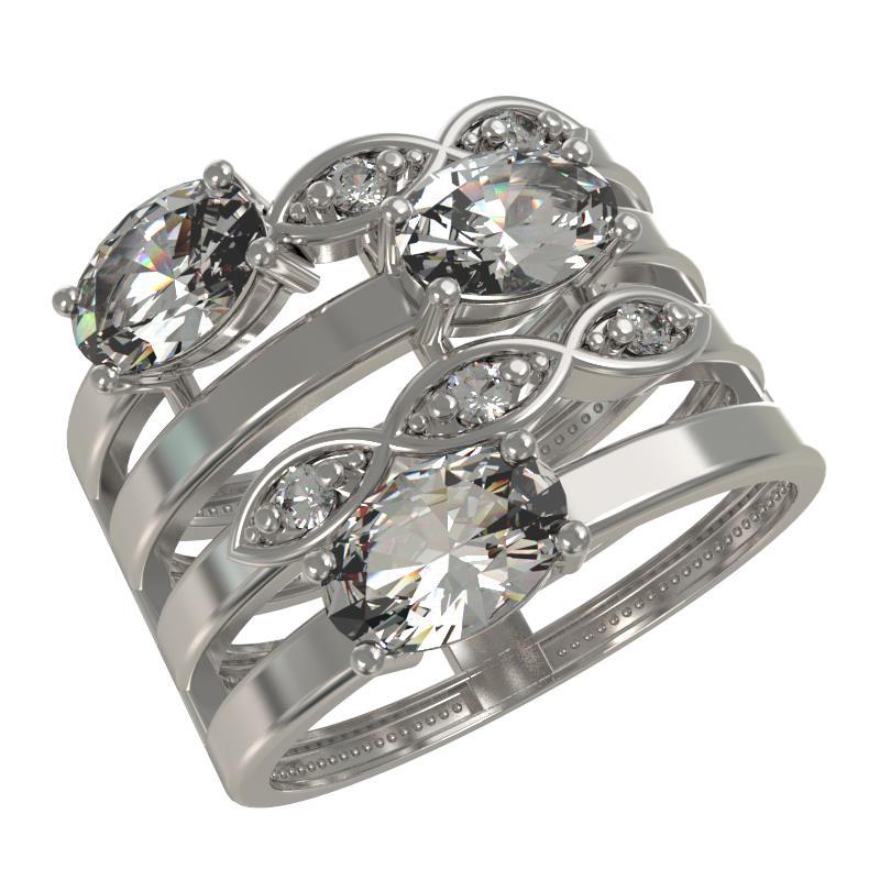 Серебряное кольцо Фианит арт. 1033871-01110 1033871-01110