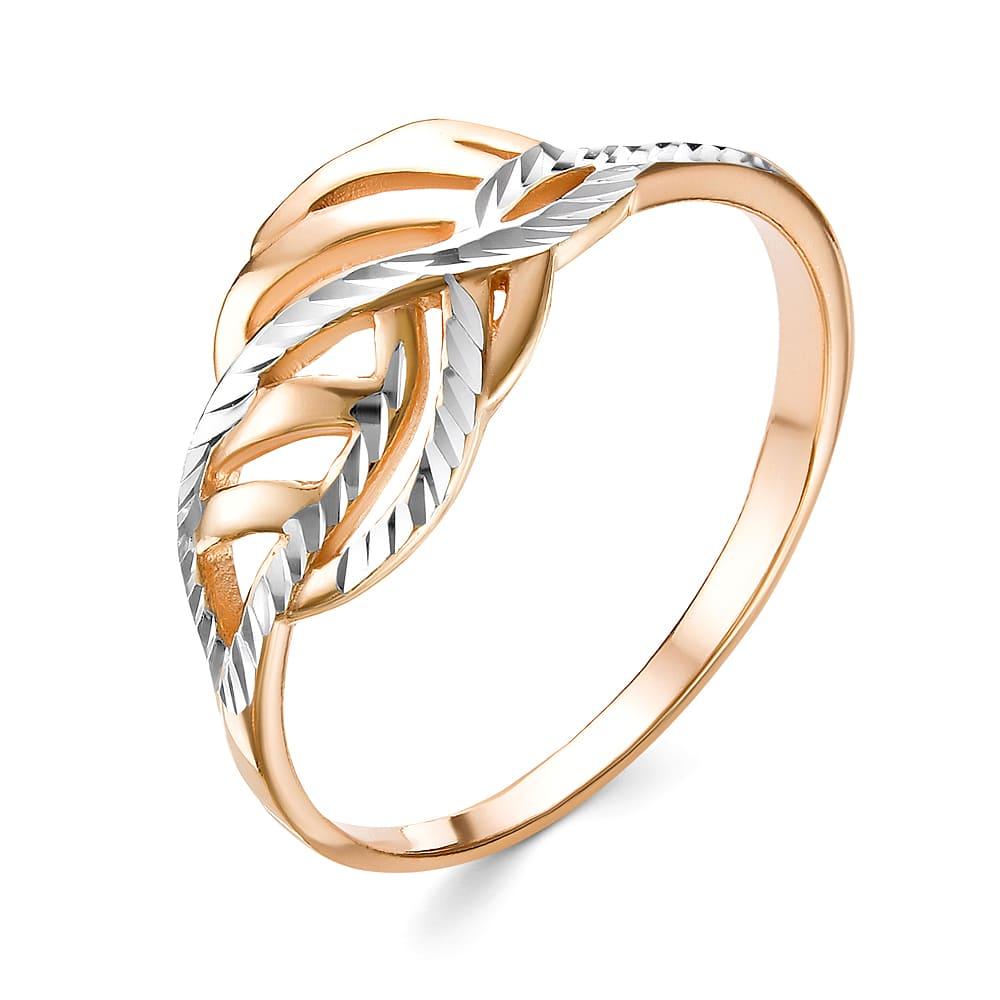 Кольцо серебряное с позолотой Без вставки арт. к3211п 17.5 к3211п 17.5