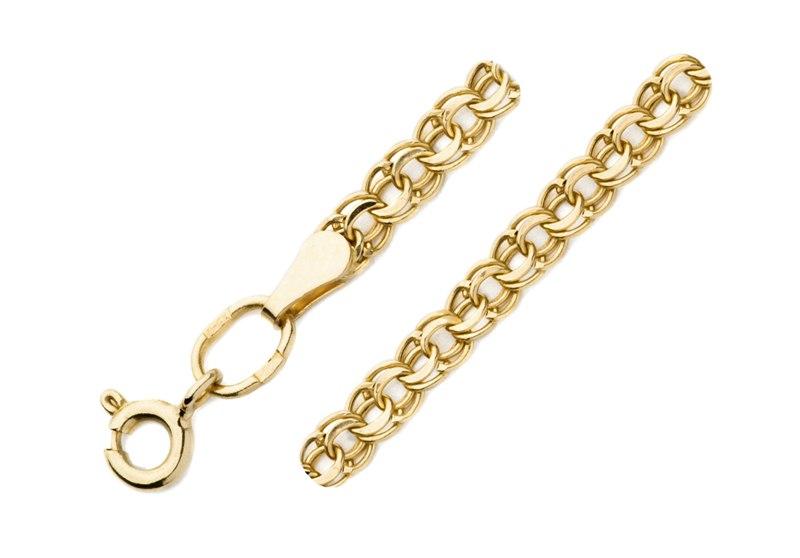 Облегченный браслет из золота арт. 7060200п-18 7060200п-18
