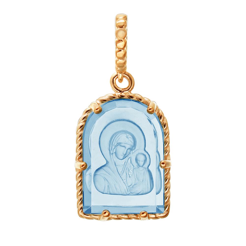 Иконка-подвес из золота с кварцем арт. 01п213283-2 01п213283-2