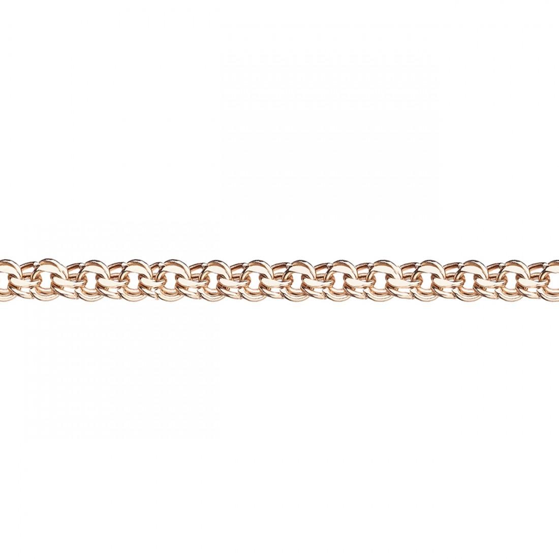 Облегченная цепь из золота арт. 8050200п-40 8050200п-40