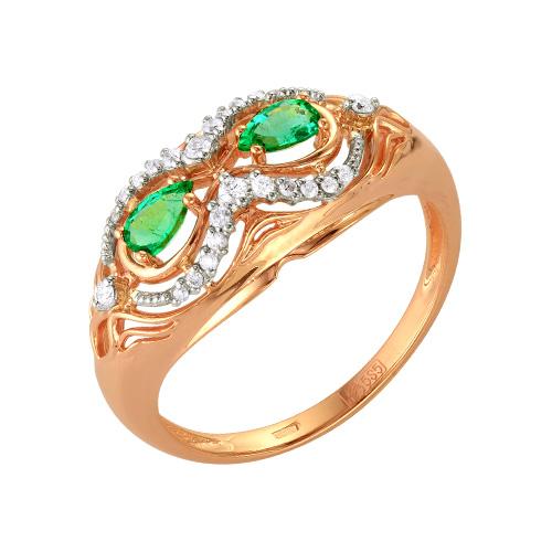 Золотое кольцо Бриллиант и Изумруд арт. 54000136 54000136