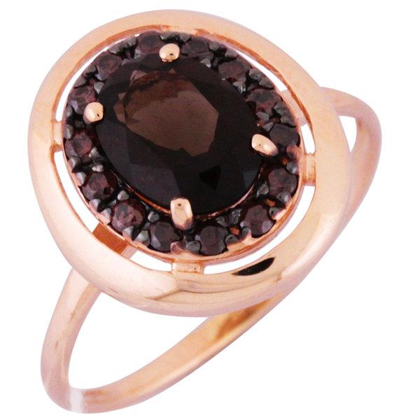 Золотое кольцо Кварц и Фианит арт. 1330986 1330986