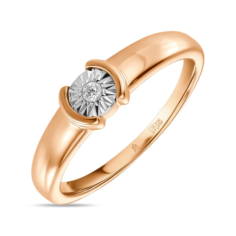 Золотое кольцо Бриллиант арт. r01-d-l-pl-35046 r01-d-l-pl-35046