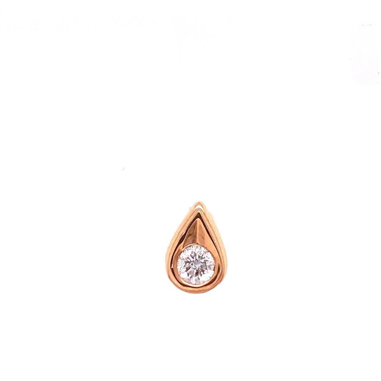 Золотой подвес с бриллиантом арт. БПП-11122-0-0,08 БПП-11122-0-0,08