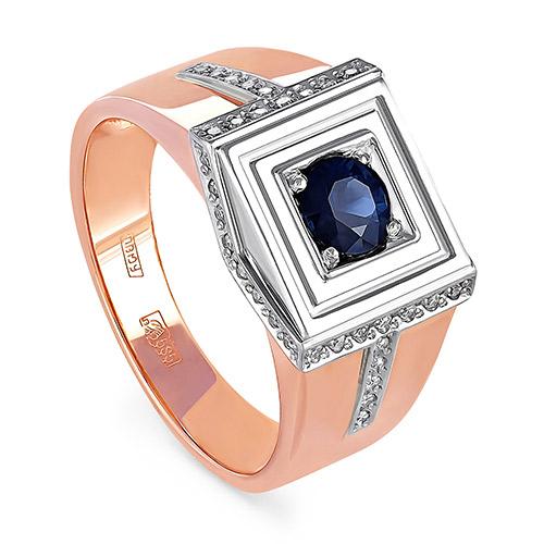 Золотое кольцо Бриллиант и Сапфир арт. 1-0090-1100 1-0090-1100