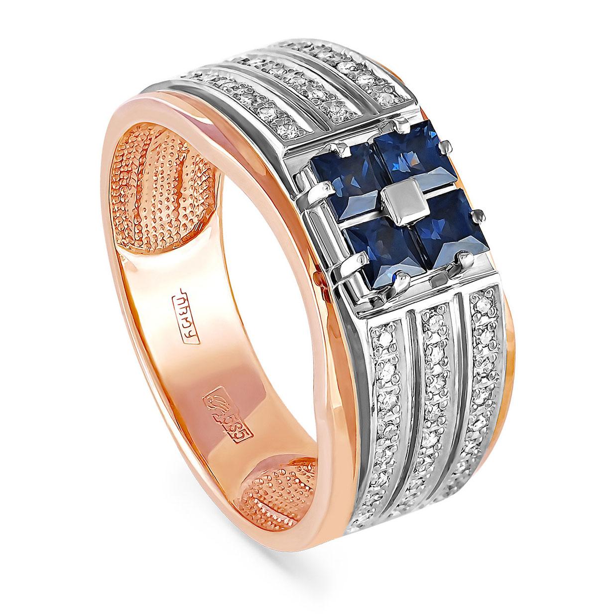 Золотое кольцо Бриллиант и Сапфир арт. 1-0157-1100 1-0157-1100