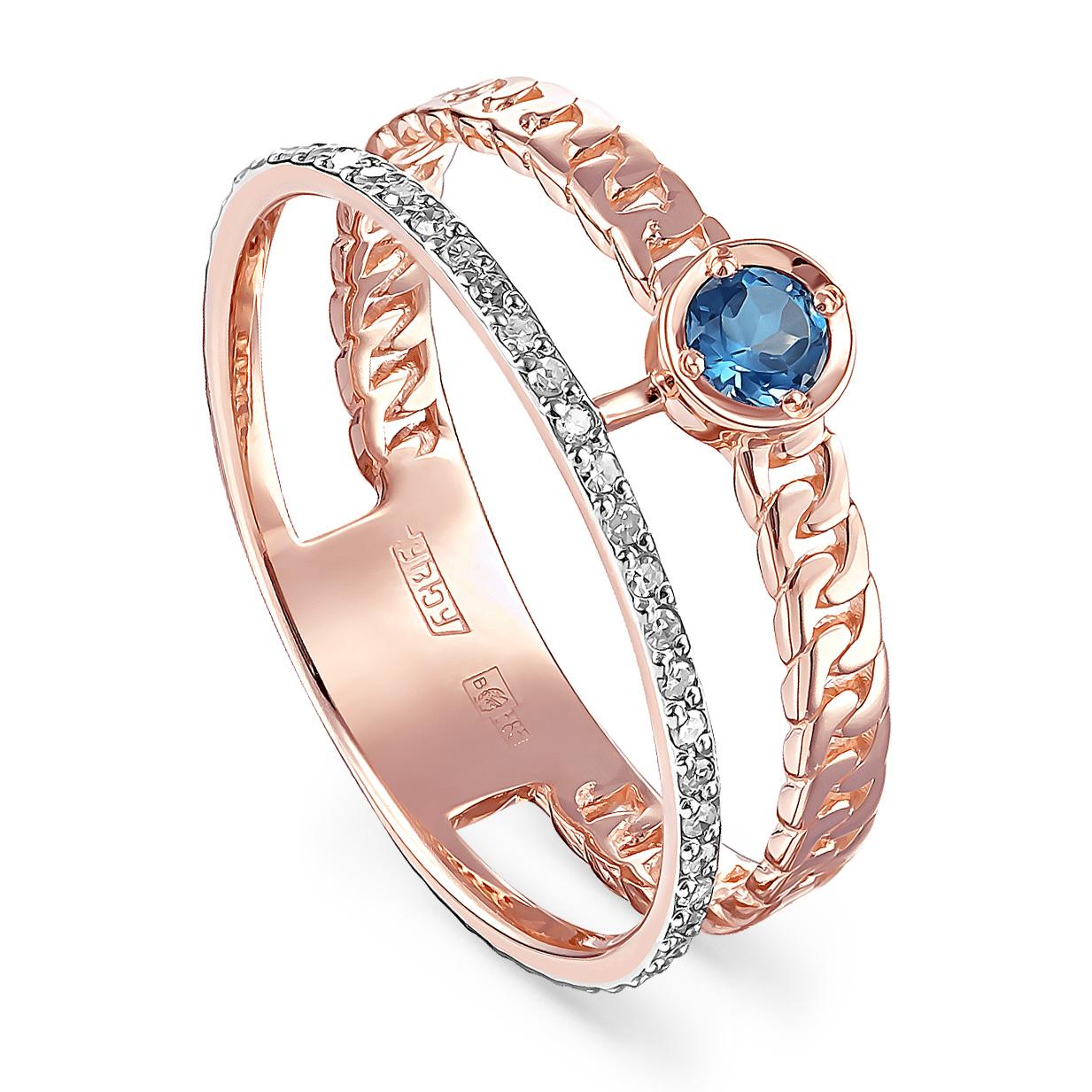 Золотое кольцо Бриллиант и Топаз арт. 1-0511-2300 1-0511-2300