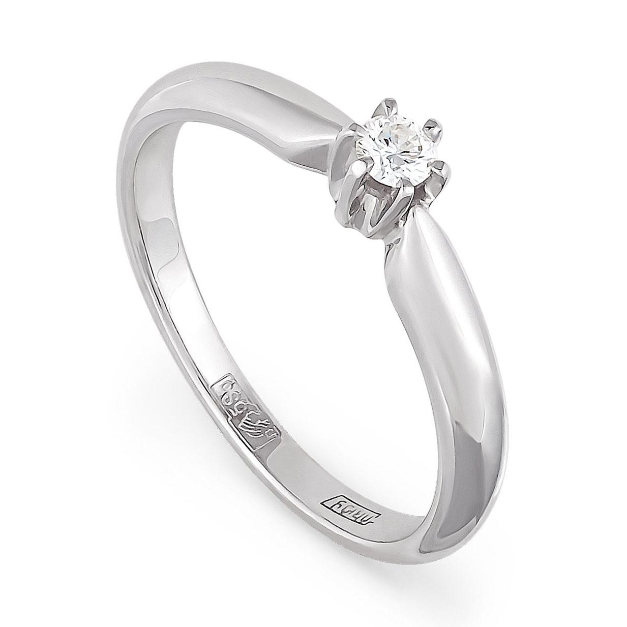 Кольцо из белого золота Бриллиант арт. 1-1009-1000 1-1009-1000