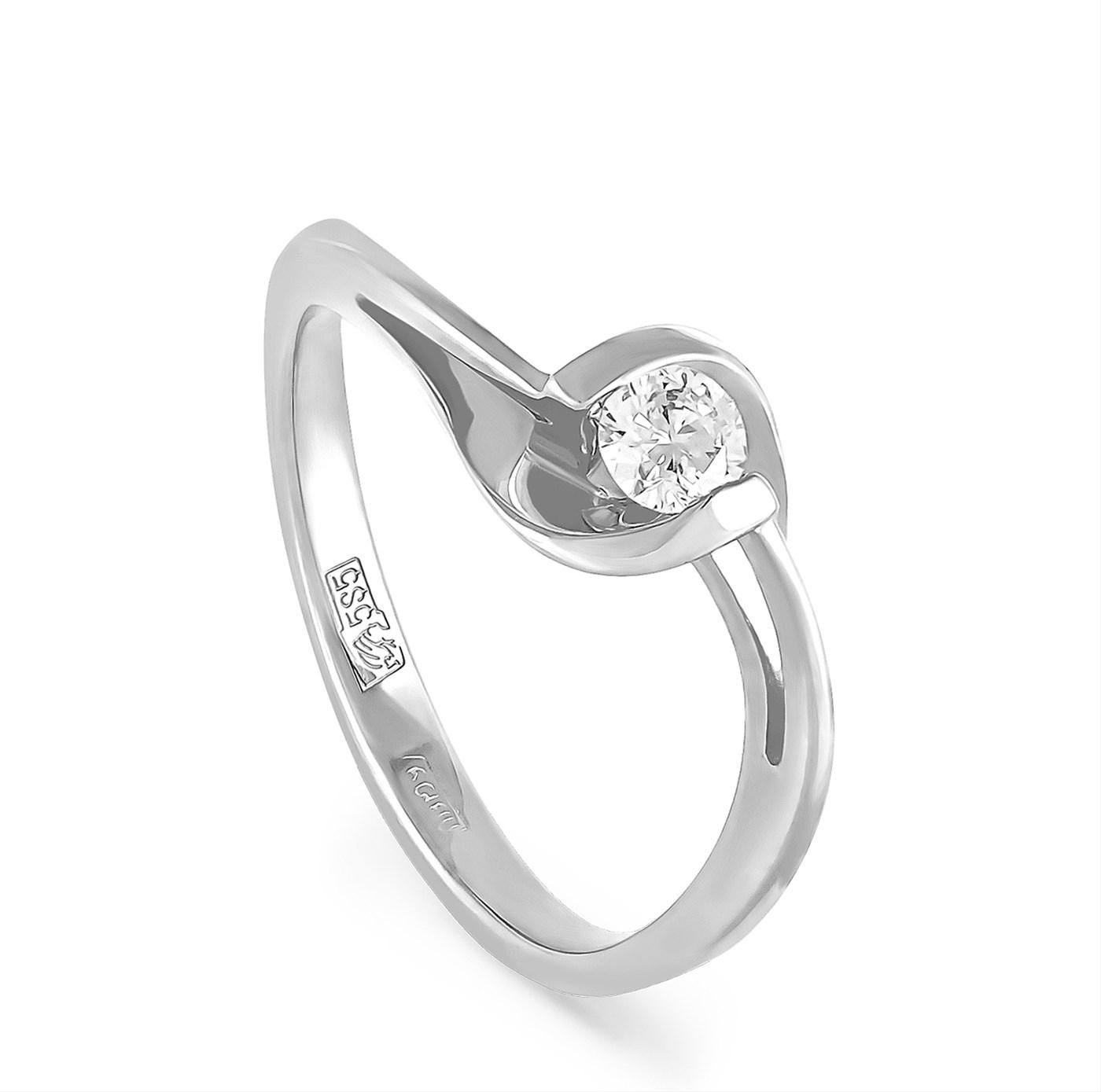 Кольцо из белого золота Бриллиант арт. 1-1112-1000 1-1112-1000
