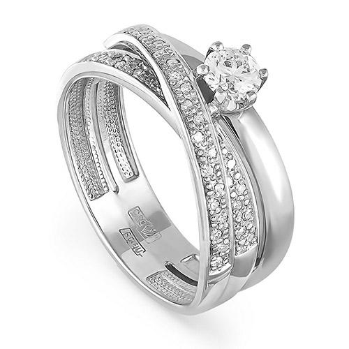 Кольцо из белого золота Бриллиант арт. 1-1223-1000 1-1223-1000