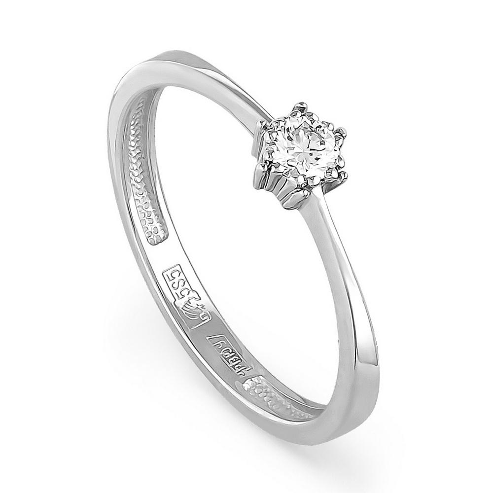 Кольцо из белого золота Бриллиант арт. 1-1306-1000 1-1306-1000