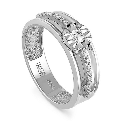 Кольцо из белого золота Бриллиант арт. 1-1323-1000 1-1323-1000