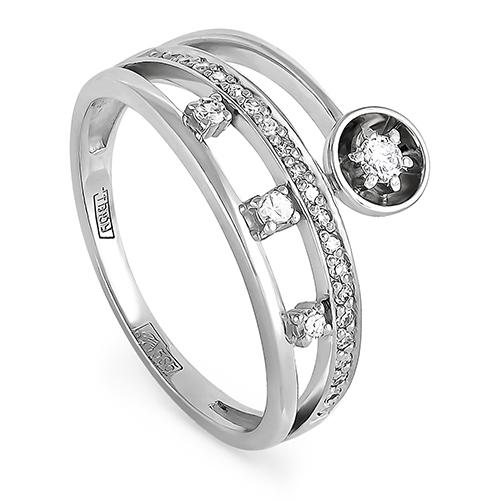 Кольцо из белого золота Бриллиант арт. 1-1404-1000 1-1404-1000
