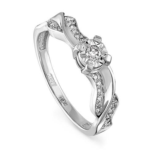 Кольцо из белого золота Бриллиант арт. 1-1435-1000 1-1435-1000