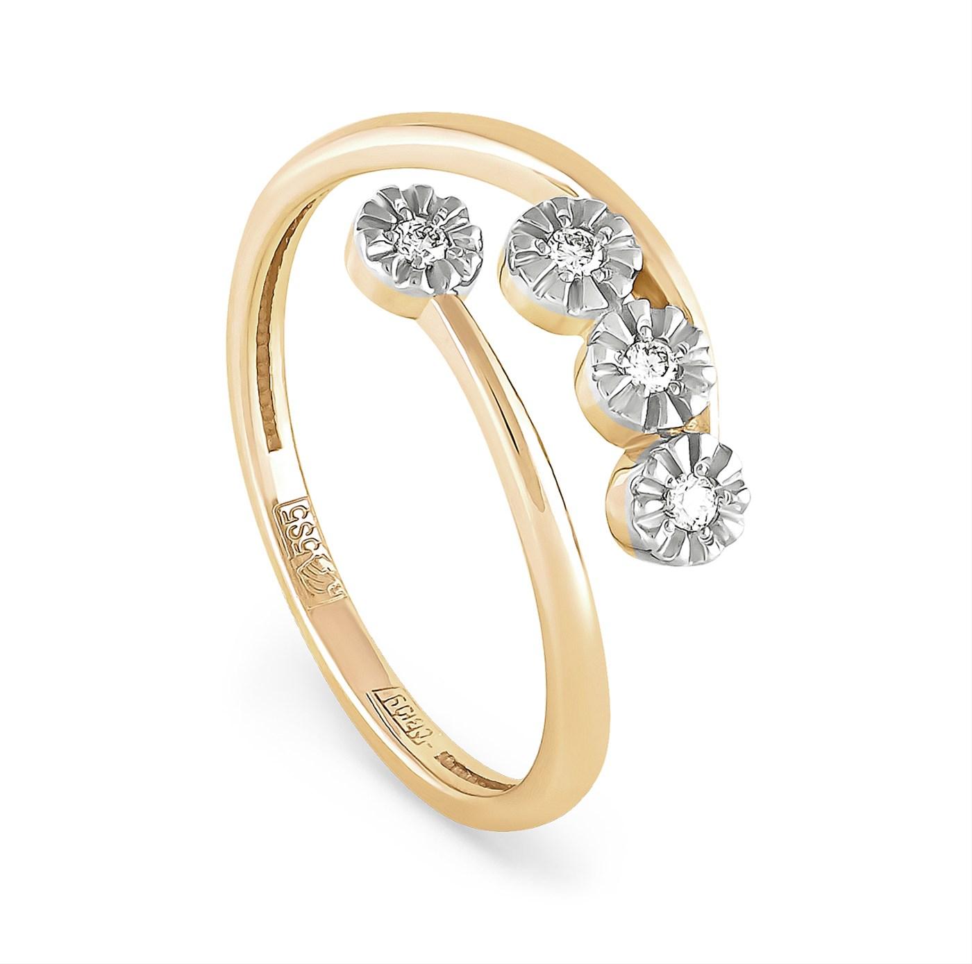 Кольцо из лимонного золота Бриллиант арт. 1-2381-1000 1-2381-1000