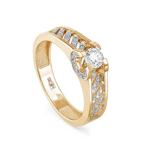Кольцо из лимонного золота Бриллиант арт. 1-2453-1000 1-2453-1000