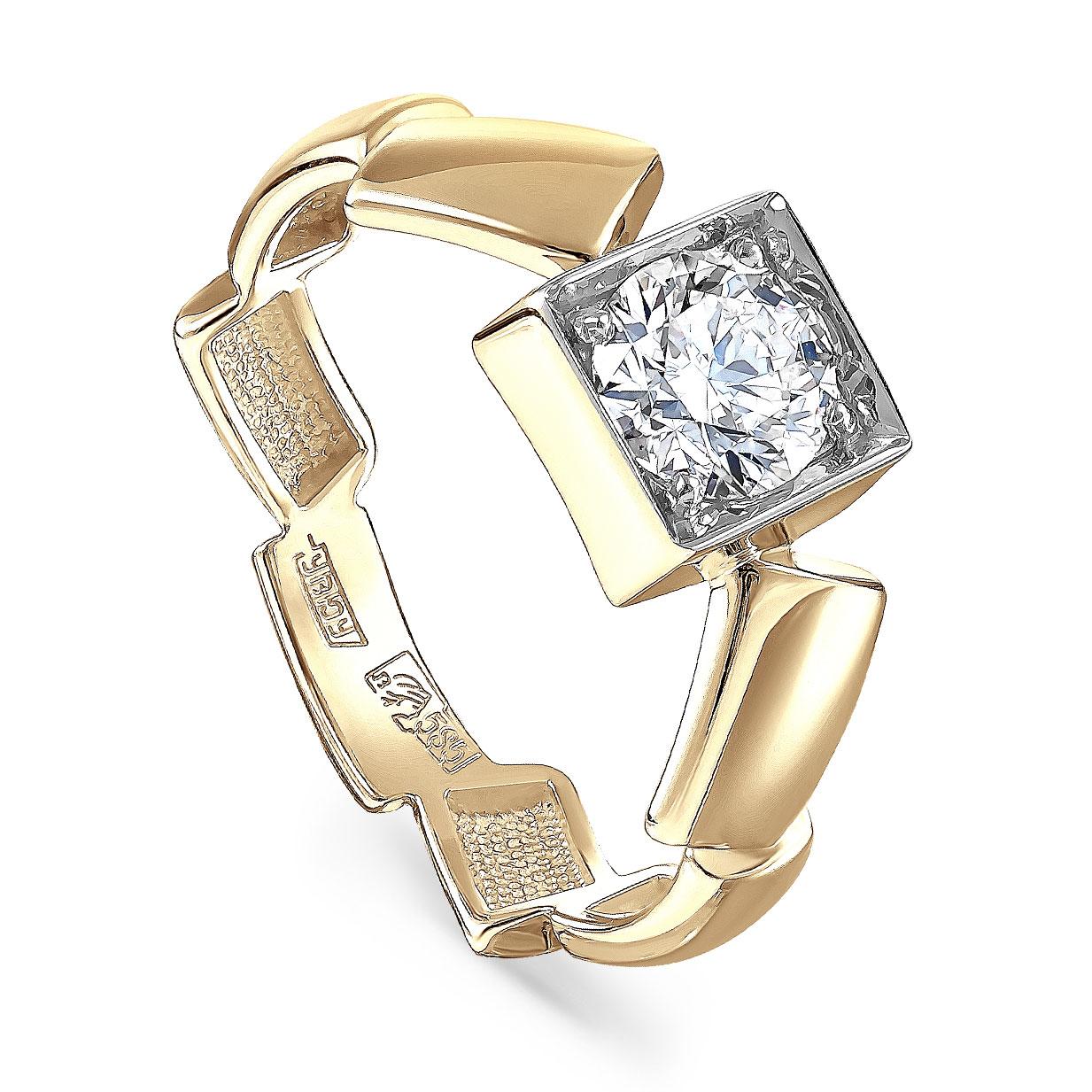 Кольцо из лимонного золота Бриллиант арт. 1-2500-1000 1-2500-1000