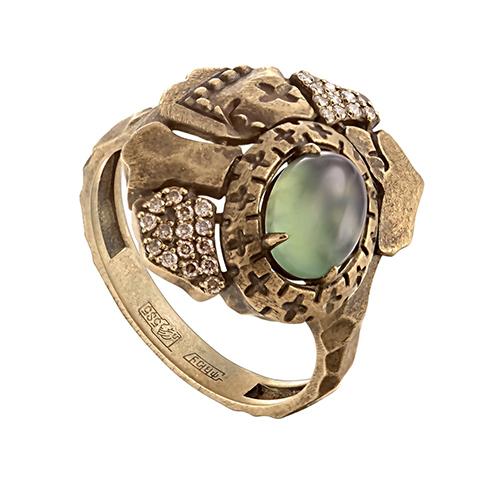 Кольцо из лимонного золота Бриллиант и Прочие арт. 1-2529-6800 1-2529-6800
