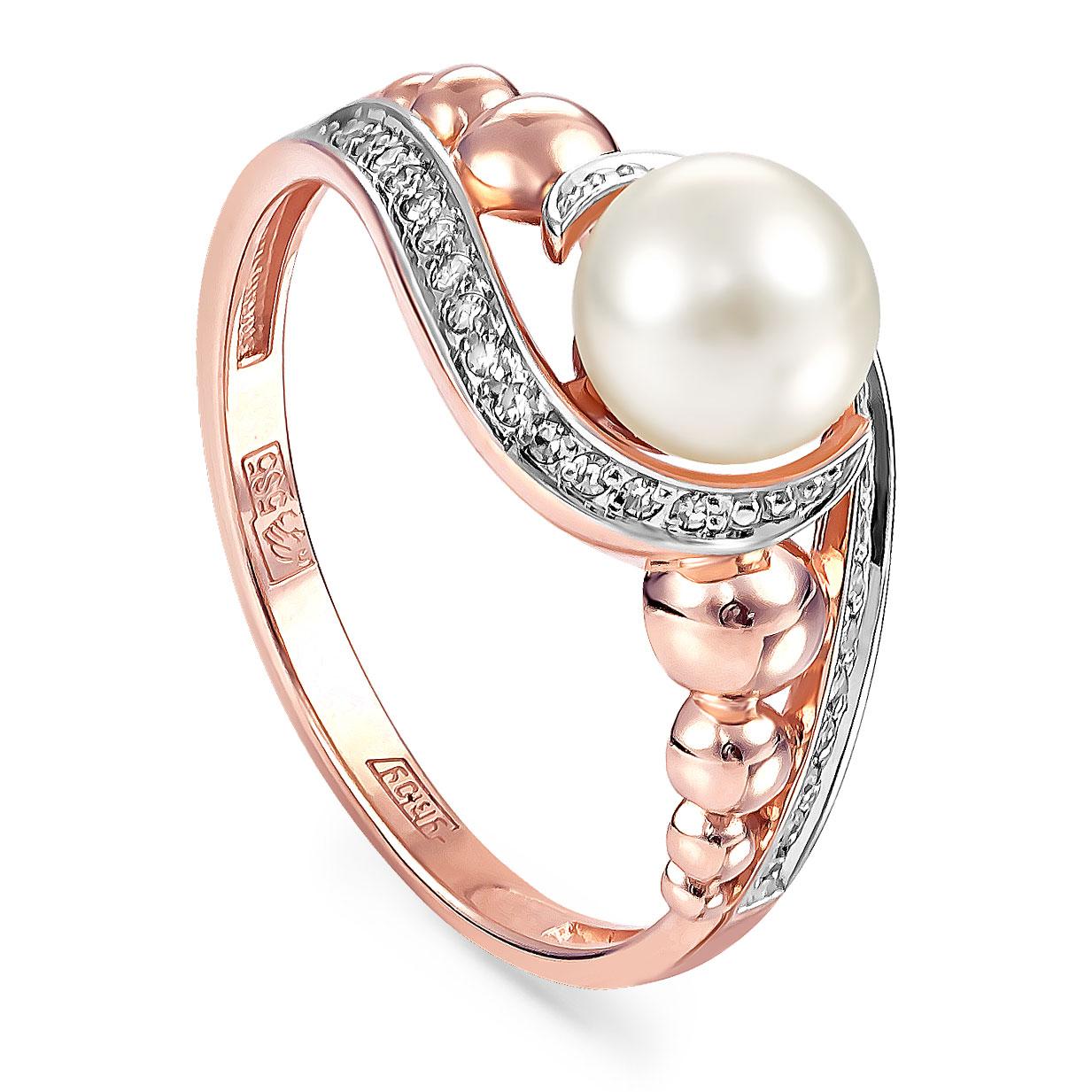 Золотое кольцо Бриллиант и Жемчуг арт. 11-01101-1500 11-01101-1500