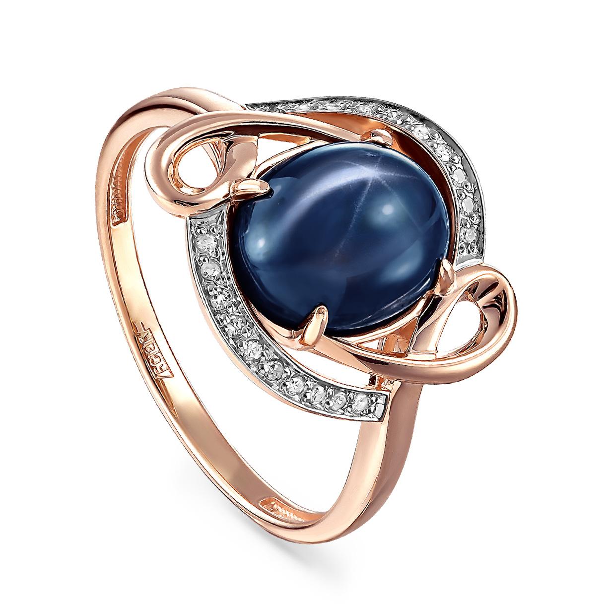 Золотое кольцо Бриллиант и Сапфир арт. 11-01146-1400 11-01146-1400