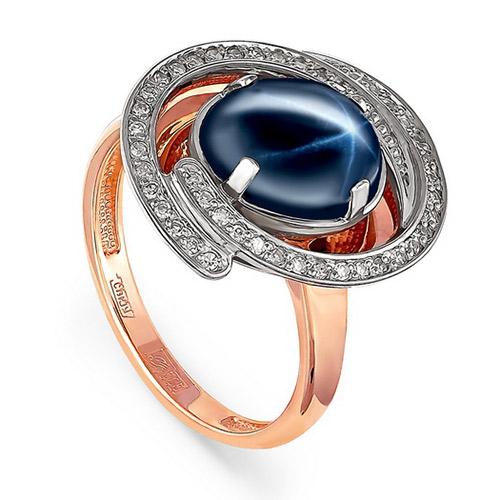 Золотое кольцо Бриллиант и Сапфир арт. 11-0785-1400 11-0785-1400