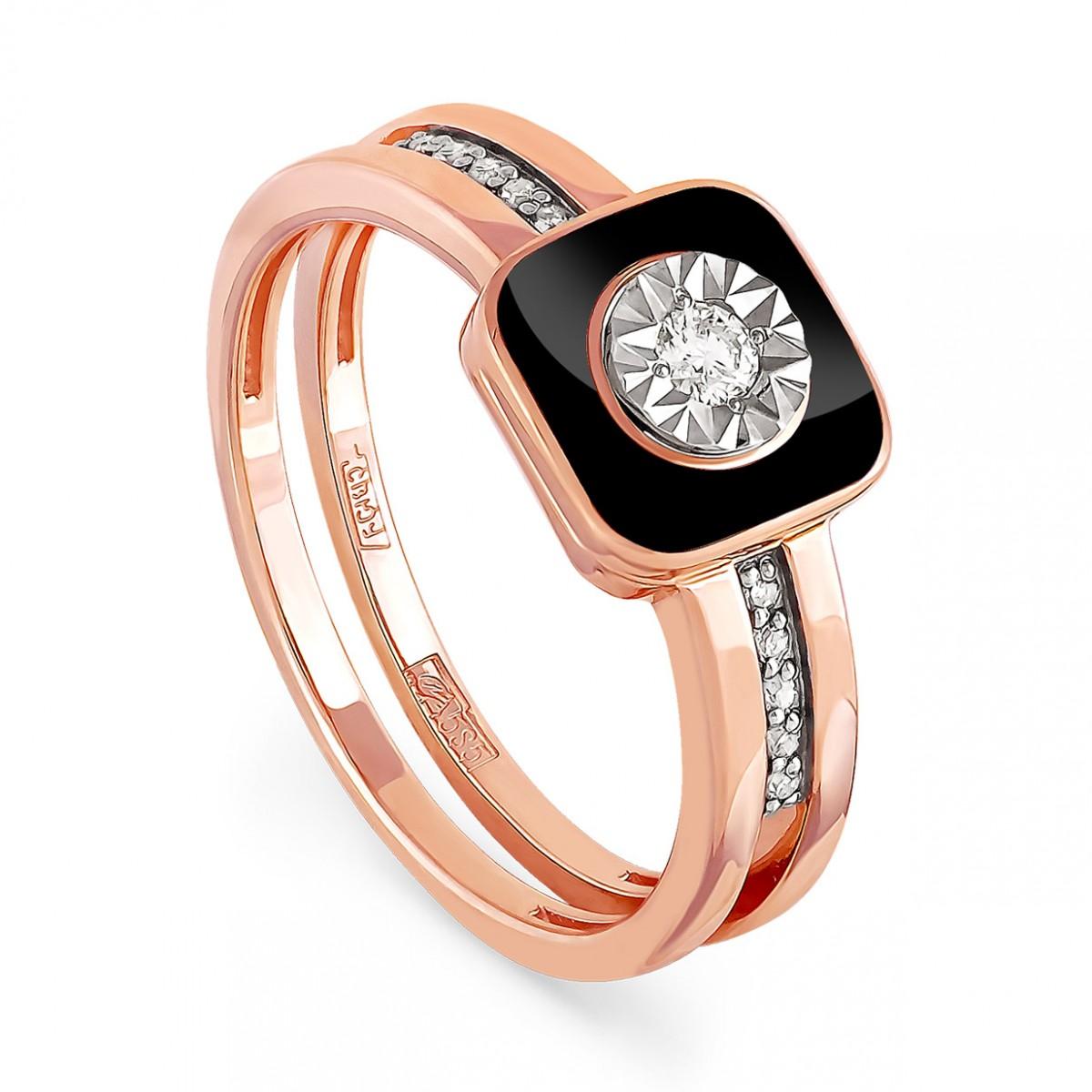 Золотое кольцо Бриллиант и Эмаль арт. 11-0804-1002 11-0804-1002