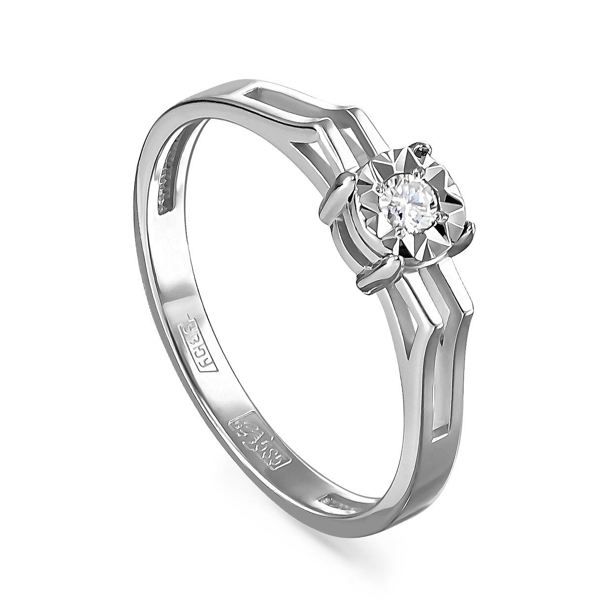 Кольцо из белого золота Бриллиант арт. 11-11111-1000 11-11111-1000
