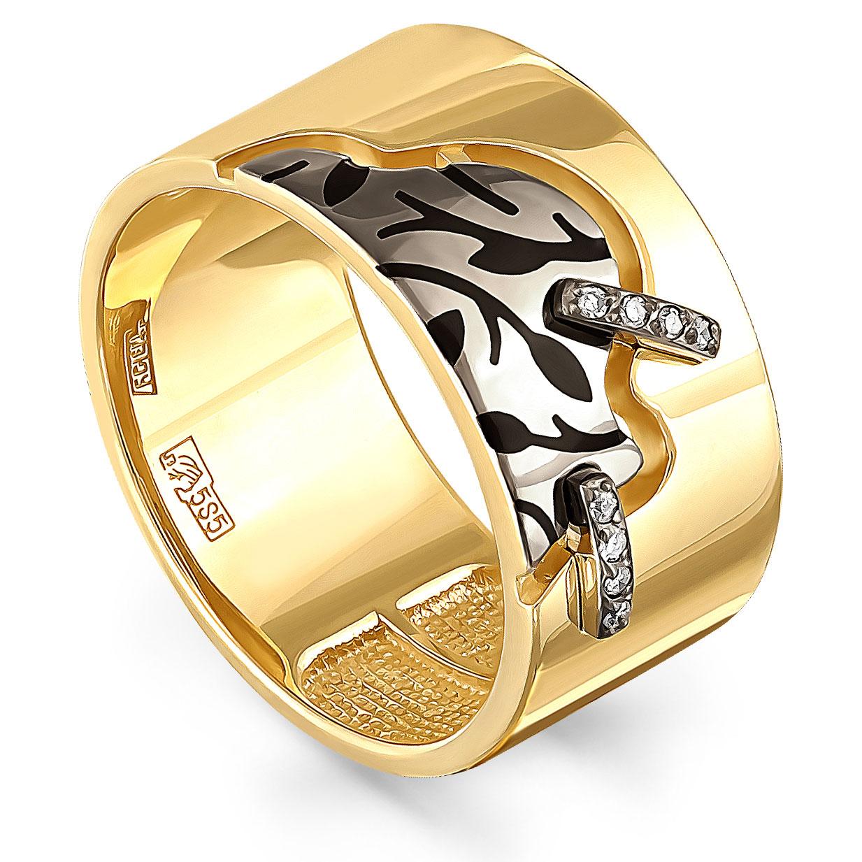 Кольцо из лимонного золота Бриллиант арт. 11-21009-1002 11-21009-1002